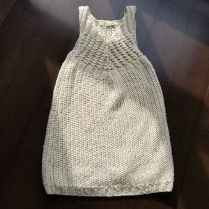 Aritzia Wilfred Knitted Sweater Vest Dress